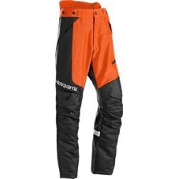 Pracovní kalhoty, pro vyžínání a práci s křovinořezem